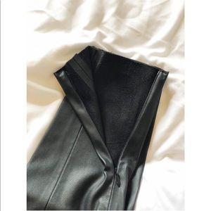 Zara Pants - Faux skinny leather pants (never worn)